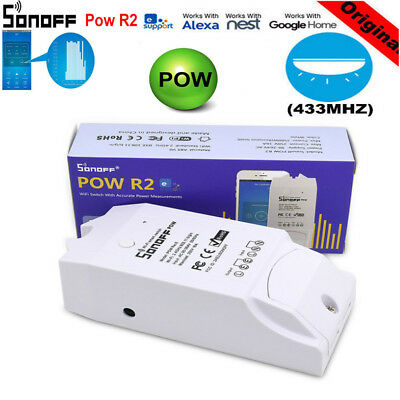 Sonoff Pow R2 WiFi Smart Home Switch Module Real Time Monitoring Via APP Remote