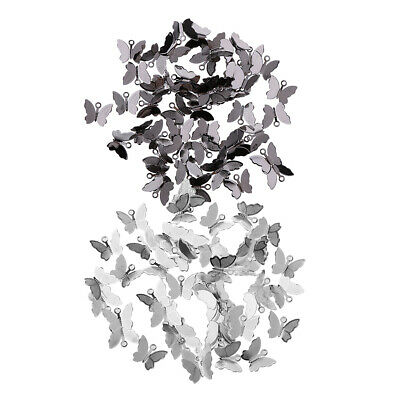 100 x Copper Butterfly Charms DIY Hair Pin Jewelry Findings Silver Black
