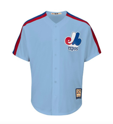 Majestic Mens MLB Montreal Expos Cooperstown Cool Base Replica Baseball Jersey