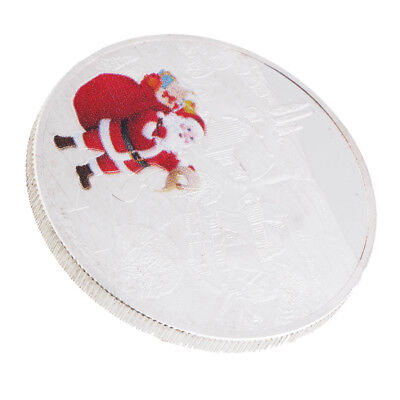 MagiDeal Christmas Santa Claus & Snowscape Commemorative Coin Toys Token Art