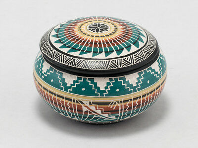 Multi-Colored, Awesomely Hand-Painted Jewelry Box by Navajo Yabeny