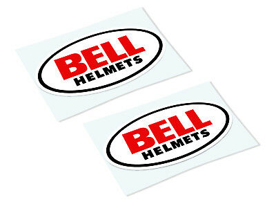 BELL HELMETS Classic Retro Car Motorcycle Decals Stickers