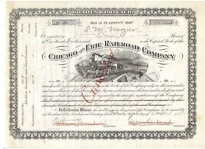 Chicago and Erie Railroad Company  1891