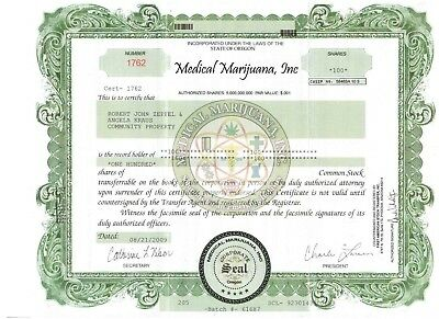 Medical Marijuana Inc.   100 Shares