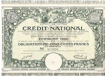 Credit National  1920