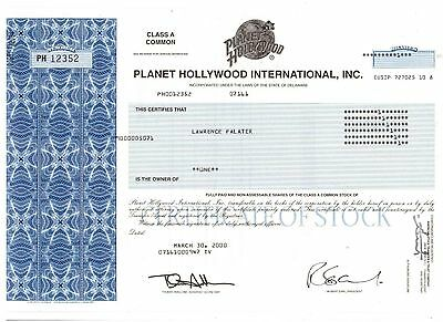 Planet Hollywood International Inc 2000