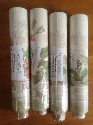 "Longaberger Botanical Fields 8 1/2"" X 5 Yards Each Wallpaper Border New"