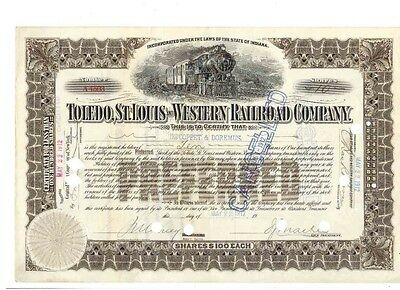 Toledo St. Louis and Western Railroad Company  1912