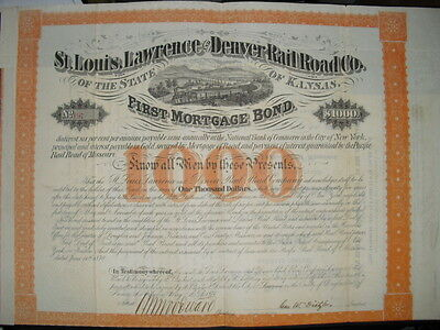 St. Louis, Lawrence and Denver Railroad Company   1871