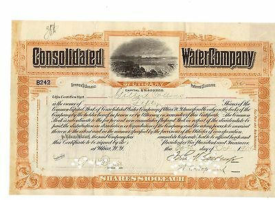Consolidated Water Company of Utica New York  1906
