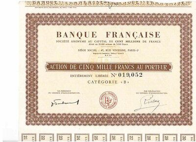 Lot: 3 Banque Francaise  Paris