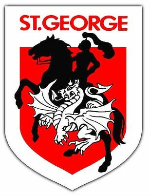 NRL St George Dragons Emblem Sticker or Magnet
