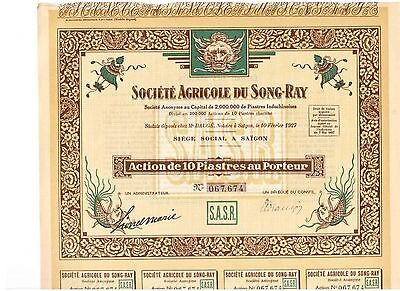 Lot: 3 Agricole du Song - Ray  1927  Saigon