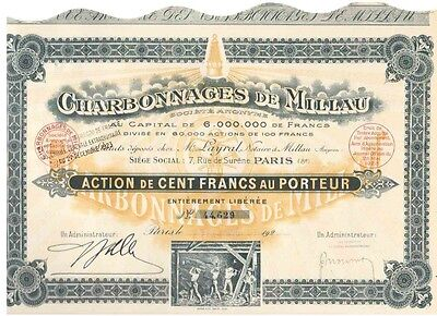Lot: 3 Charbonnages De Millau  Paris 1925  Deko