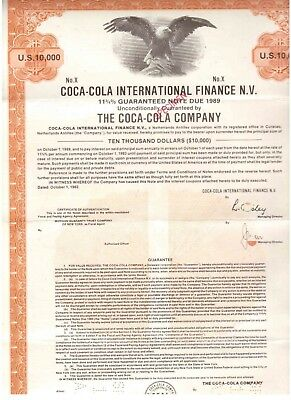 RAR: Coca Cola International Finance N.V 10000$ Bond