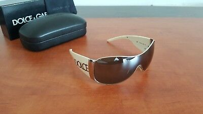 65c0236d920d Authentic DOLCE   GABBANA DG 2005 05 6G Large Shield Sunglasses Made in  Italy