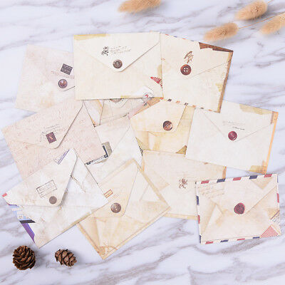 12pcs Mini Envelopes Colored Gift Card Small Metallic Designs Paper Envelope FG