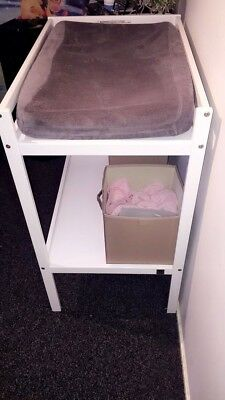 White Nappy Change Table