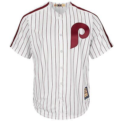Majestic Mens MLB Philadelphia Phillies Cooperstown Cool Base Replica Jersey
