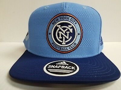 brand new 1f91b 8f950 New York City FC Cap Adidas Snapback Hat Official On Field 2018 Soccer MLS