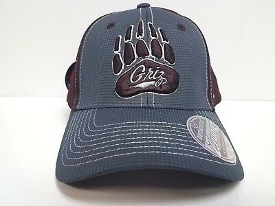 another chance be973 0cb12 Montana Grizzlie Cap Zephyr Stretch Fit Fitted Grid 2 Tone Hat NCAA