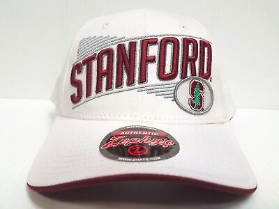 reputable site 9ba7d e6b0e Stanford Cardinal Cap Zephyr Adjustable Snapback Crossover White Hat NCAA