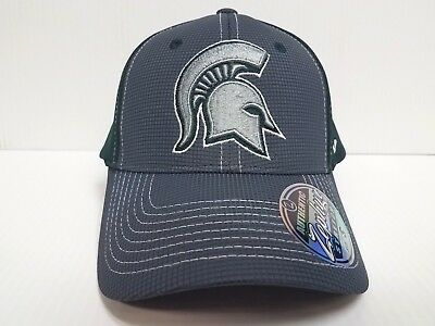 half off fef4c a0d29 Michigan State Spartans Cap Zephyr Stretch Fit Fitted Grid 2 Tone Hat NCAA