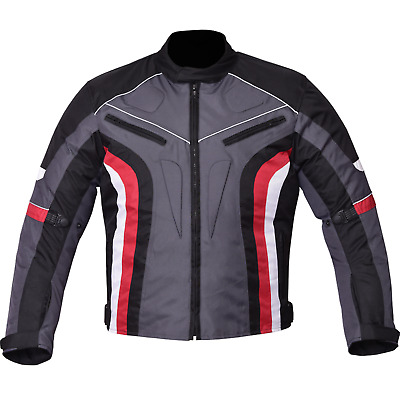 HMSB men Motorcycle Motorbike Jacket Waterproof Textile Cordura CE Armour