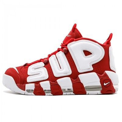 Nike Air More Uptempo Supreme Rosse Red 100% Original - NIKE UPTEMPO SUPREME