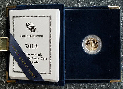 2013-W 1/10 oz Proof Gold Eagle - Box & COA