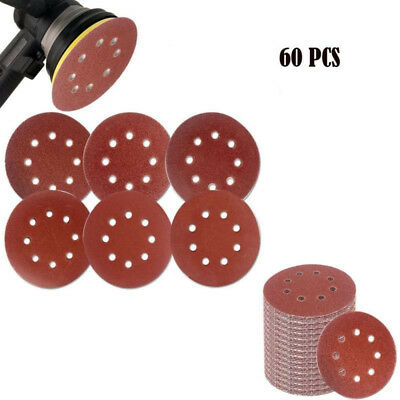 5in Sanding Discs Orbital Sander Sandpaper Hook Loop 40-240 Grit Assorted Pads