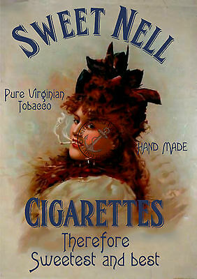 VINTAGE Poster Sweet Nell Cigarette Advert RETRO TOBACCO ADVERT ART Print A3 A4