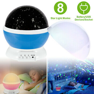 LED Starry Sky Projection Night Lamp Romantic USB Rotating Projection Light Gift