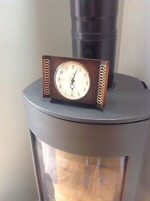 Smiths vintage 1950's mantle clock mechanical working and keeping time