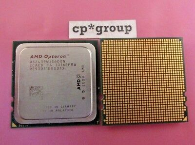LOT OF 2 AMD Opteron 2435 Six Core CPU Processor 2.6GHz Socket Fr6 OS2435WJS6DGN