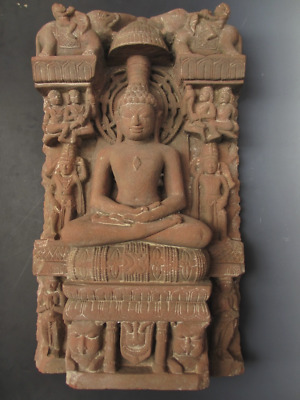 Northern Indian Stone Mandala Sequoia Sandstone 10th〜 11th Century Museum Level
