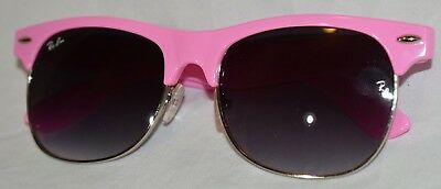 1c00c4f614 Ray Ban Clubmaster Pink Frame Fade Gradient Ombre Black Gray Lense 3017  Classic