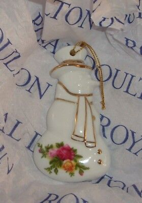 Old Country Rose Royal Doulton Snowman Ornament