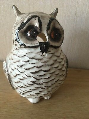 Babbacombe Pottery England Ceramic Owl String Holder - good condition