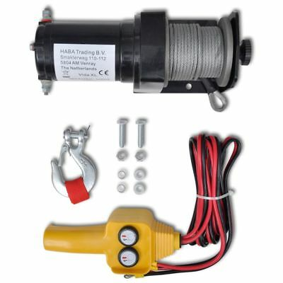 12 V Electric Winch 907KG w/ Wire Remote Control for ATV Truck Trailer Recovery