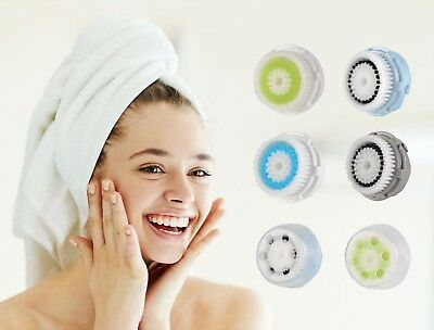 Replacement Facial Brush Heads for Different Skin Types (4- or 8-Pack)