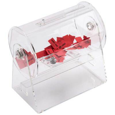 Small Acrylic Raffle Drum with Handle- Holds Approximately 2,000 Raffle Tickets