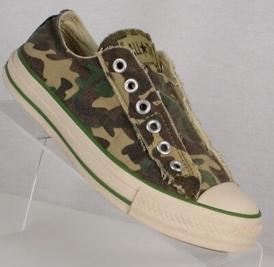 78a9d7e4e4354 WOMENS CONVERSE CHUCK Taylor All Stars RARE Camo Slip On Shoes Size ...