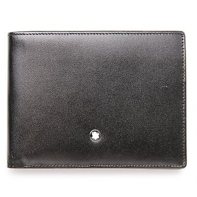 Montblanc Meisterstuck Wallet 6CC Black Leather - 14548 100% New and Authentic