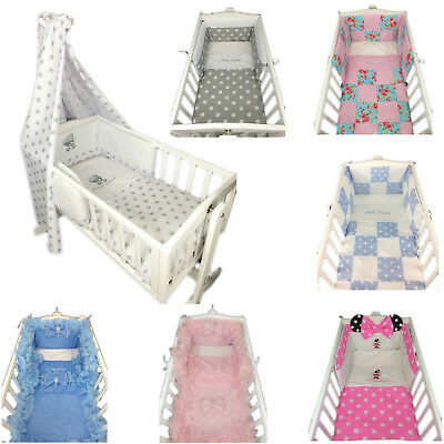 Baby Bedding Set Cot Cotbed Swinging Crib Personalised Quilt Bumper Girls Boys