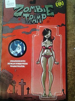 Zombie Tramp #21 Mendoza Action Figure Ltd Ed Variant 1St Print Mar 2016 Nm/mint