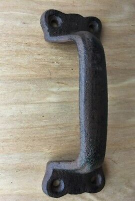 set of 2 Cast Iron Door Pull Handle  Style Barn Antique Gate Rustic