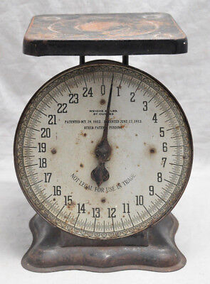Antique American Cutlery Co 25lb Family Scale Steampunk