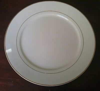 GIBSON HOUSEWARES EVERYDAY China White with Gold Stripe trim Serving ...