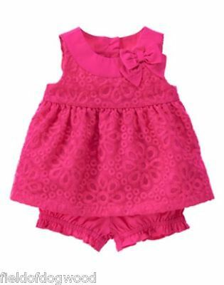 NWT Gymboree Family Brunch Floral Swing top Bloomer Short Set Baby Girl